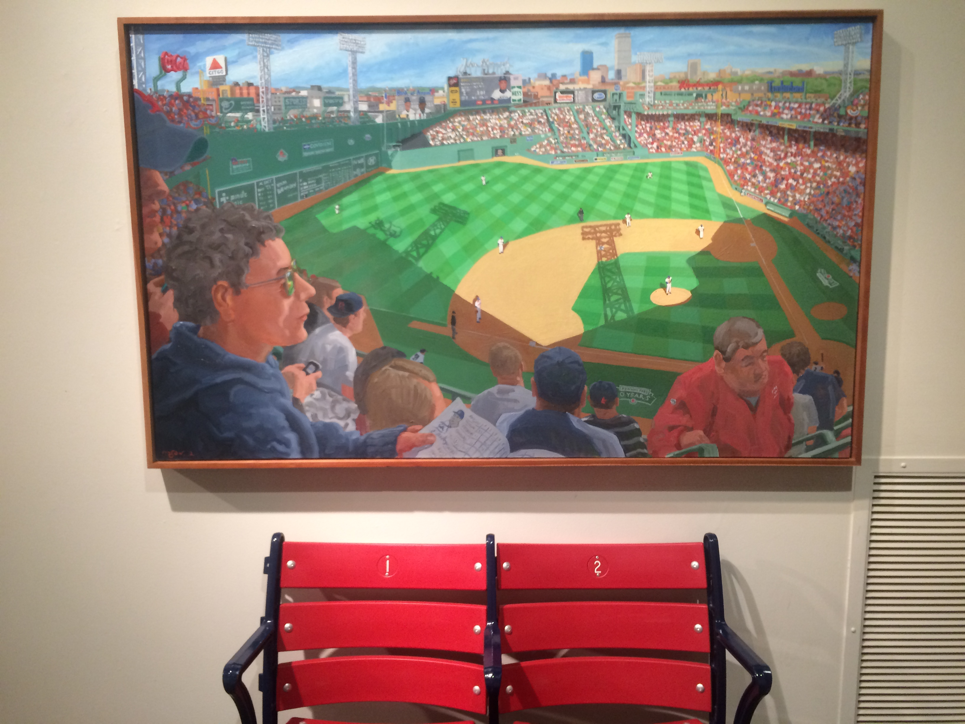 Mason's depiction of Fenway Park